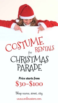 Christmas costume parade Instagram-verhaal template