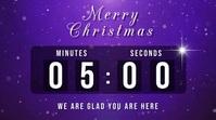 christmas countdown Digitalanzeige (16:9) template