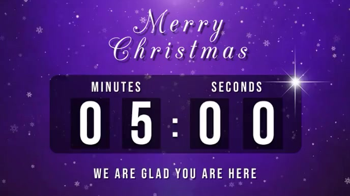 christmas countdown Pantalla Digital (16:9) template