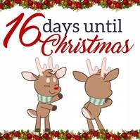 Christmas countdown instagram design template