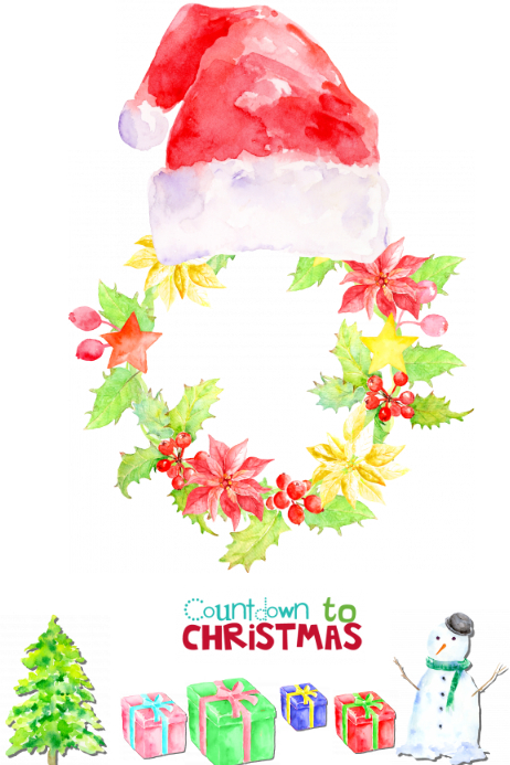 Christmas Count Down.Christmas Countdown Prop Frame Template Postermywall