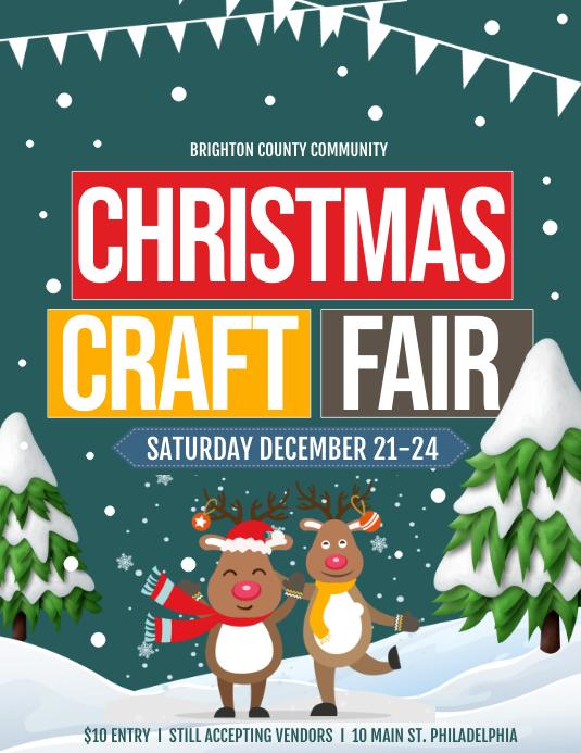 Christmas craft fair Pamflet (Letter AS) template