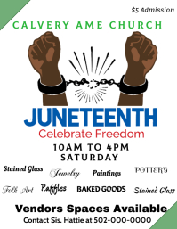 Juneteenth Festival arts and Craft Fair Flyer (US-Letter) template