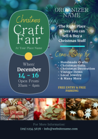 Christmas Craft Fair Flyer A4 template