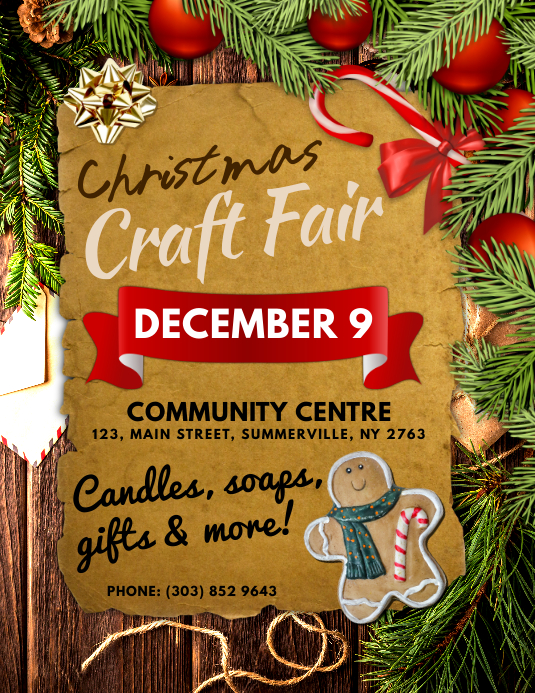 Customizable Design Templates For Christmas Craft Fair Postermywall