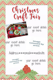 Christmas Craft Fair Invitation Party Cookie Exchange Gift
