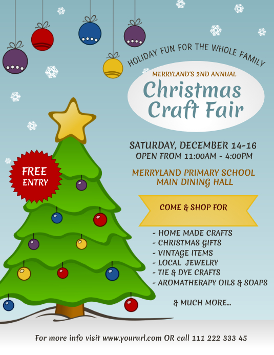 Christmas Craft Fair flyer template