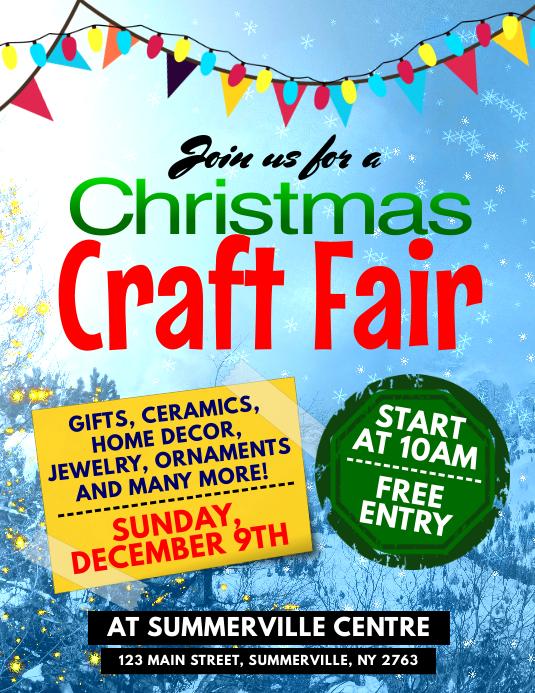 Christmas Craft Fair Flyer
