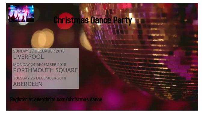 Christmas Dance Party Pantalla Digital (16:9) template