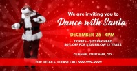 Christmas dance with santa invite Facebook Event Cover template
