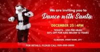 Christmas dance with santa invite Capa para evento do Facebook template