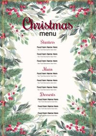 CHRISTMAS Day Restaurant Menu Template A4