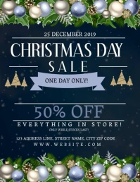Christmas Day Sale Event Flyer Template
