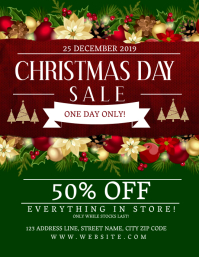 Christmas Day Sale Event Flyer Template Pamflet (VSA Brief)