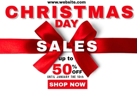 Christmas day sales poster