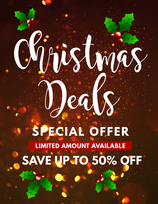 Christmas Deals.Christmas Deals Flyer Template Postermywall