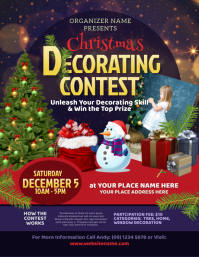 Christmas Decorating Contest Flyer template