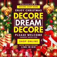 Christmas Decoration 2020 Post Template