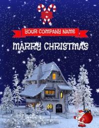 CHRISTMAS Løbeseddel (US Letter) template
