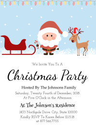 10240 Customizable Design Templates For Christmas Invitation