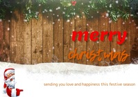Christmas A3 template