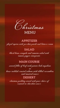 christmas DIGITAL menu DISPLAY BOARD template