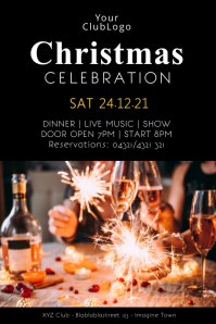 Christmas Dinner Celebration Event Party Show