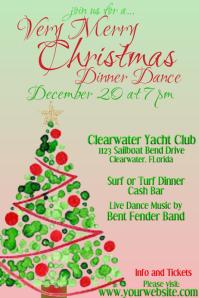 Christmas Dinner Dance Invitation