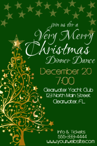 Christmas Dinner Dance Invitation
