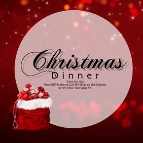 Christmas Dinner Instagram Post template