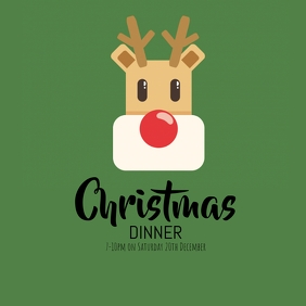 Christmas Dinner Instagram Post template