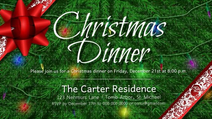 Christmas Dinner Facebook Cover Video
