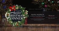 Christmas Dinner Facebook Shared Image template