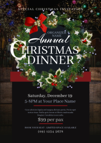 Christmas Dinner Flyer A4 template
