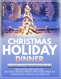 christmas dinner flyer template pike productoseb co