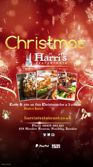 christmas dinner instagram advert template