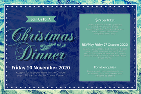 Christmas Dinner Invitation Landscape Poster