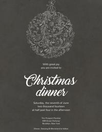 26 310 customizable design templates for christmas dinner event