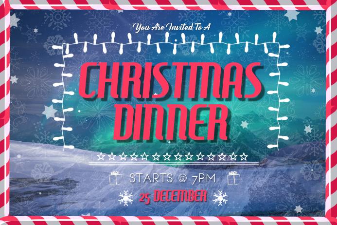 Christmas Dinner Landscape Poster