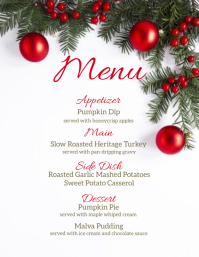 christmas DINNER MENU template Flyer (US Letter)