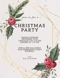 CHRISTMAS DINNER PARTY INVITE TEMPLATE 传单(美国信函)
