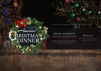 Christmas Dinner Postcard Cartolina template