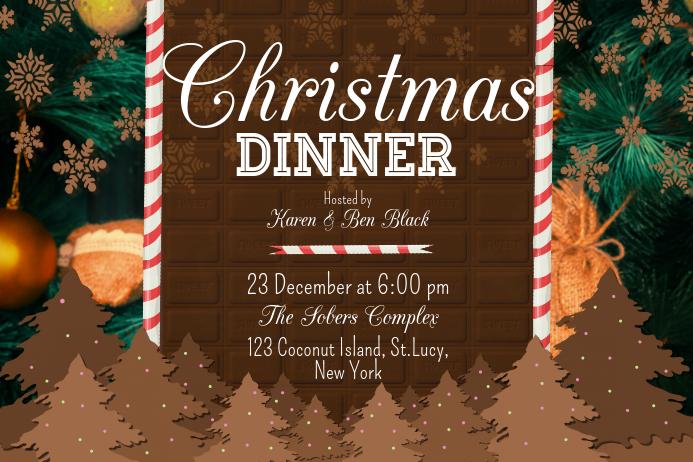 Christmas Dinner Poster template