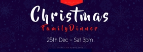 CHRISTMAS dinner template Facebook Cover Photo