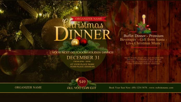 Christmas Dinner Twitter Post template
