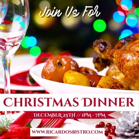 Christmas Dinner Video Template Instagram Post