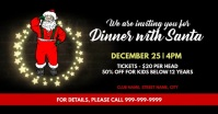 Christmas dinner with santa invite Facebook Event Cover template