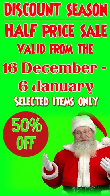 Christmas discount Tampilan Digital (9:16) template