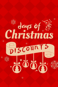 customizable design templates for christmas discount postermywall