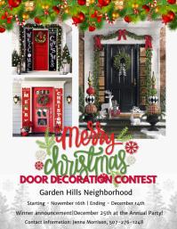 Christmas door decoration Flyer (US Letter) template